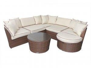 Cool Valencia Rattan Garden Corner Sofa Set In Chocolate Mix And Ibusinesslaw Wood Chair Design Ideas Ibusinesslaworg