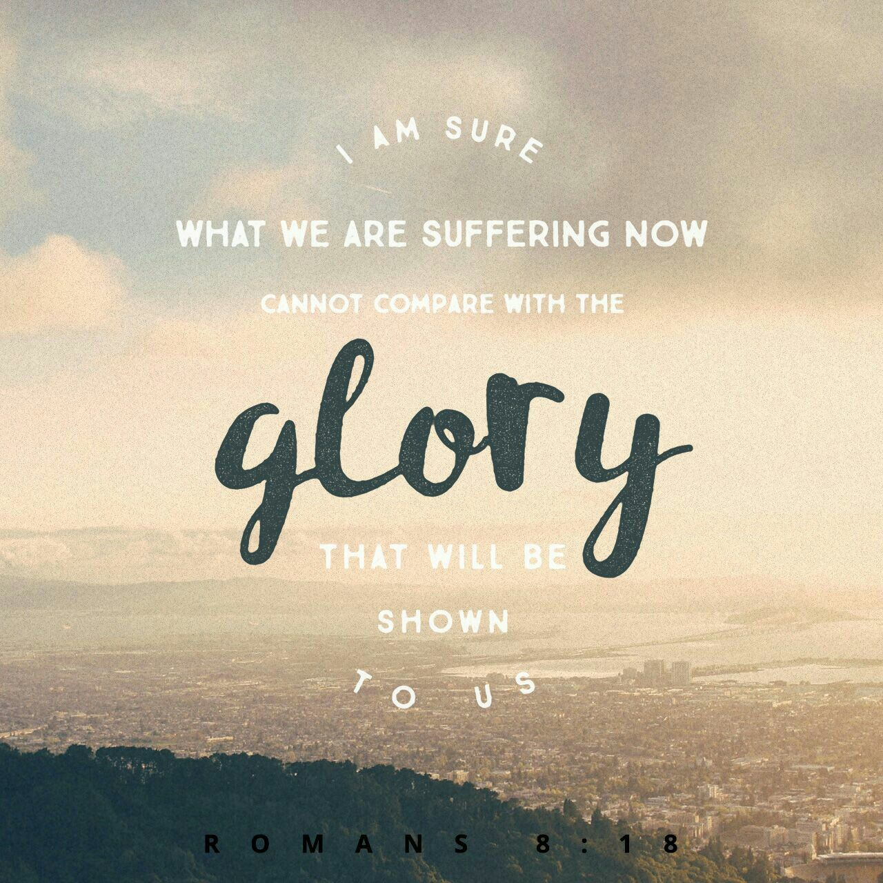 following christ in his sufferings is nothing compared to the glory