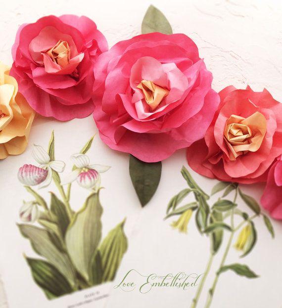 New Garlands 3 Foot Rose Festoon By Loveembellished Paper Flower Garlands Flower Garlands Paper Flowers