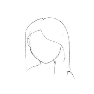 draw hair art