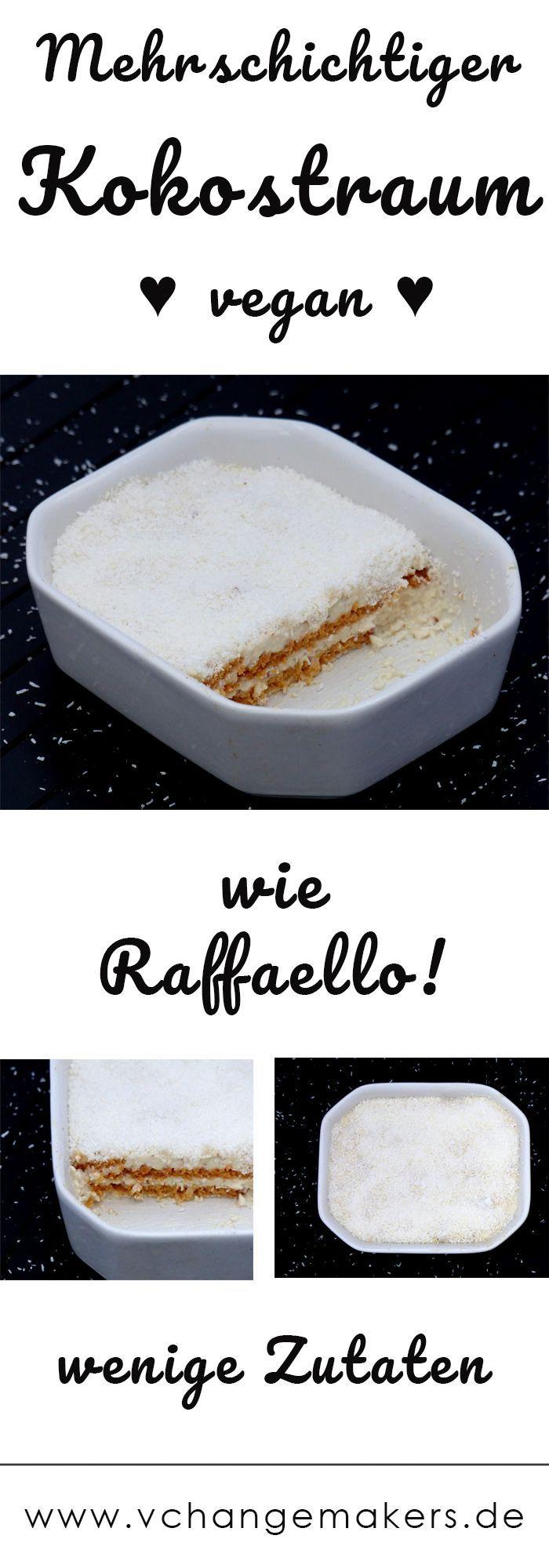 Rezept: Kokostraum - wie Raffaello - vegan - V Change Makers #dessertideeën