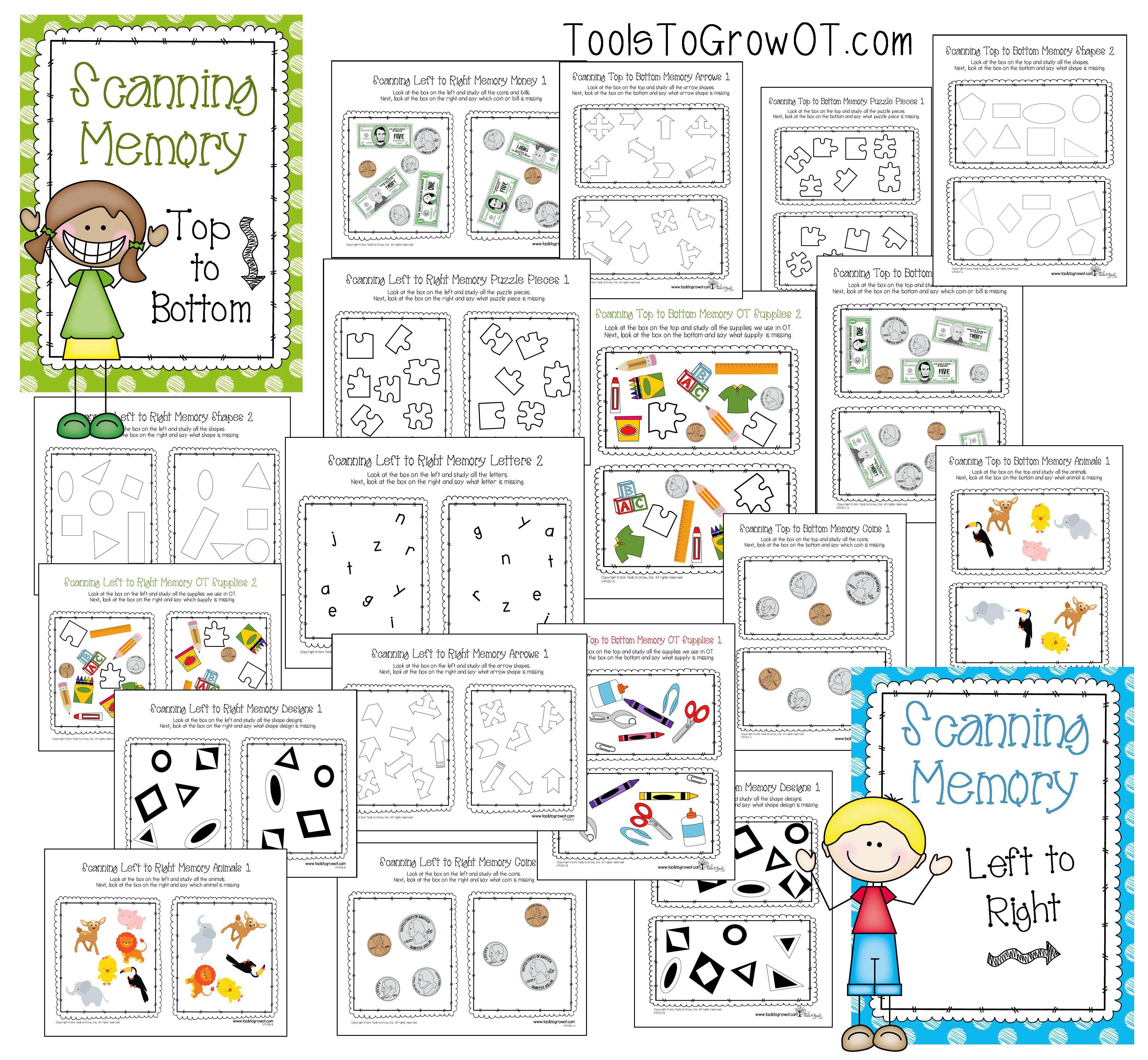 Visual Memory Scanning Resources Visual Perceptual Worksheets For Occupa Visual Perceptual Activities Sensory Processing Disorder Activities Visual Perception [ 3600 x 3900 Pixel ]