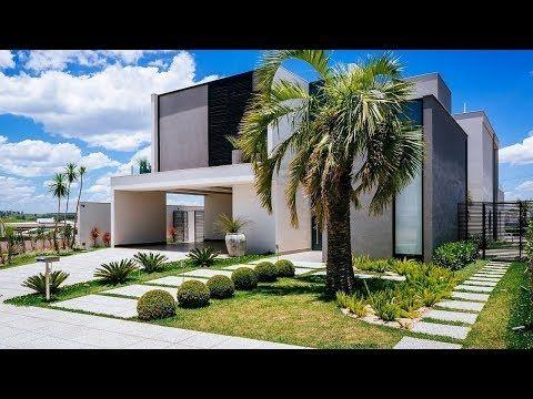 30 hermosas casas con jardines youtube exteriores - Jardines exteriores de casas modernas ...