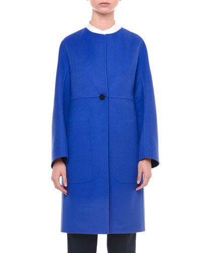 JIL SANDER Double-Face Cashmere Coat, Cobalt. #jilsander #cloth #
