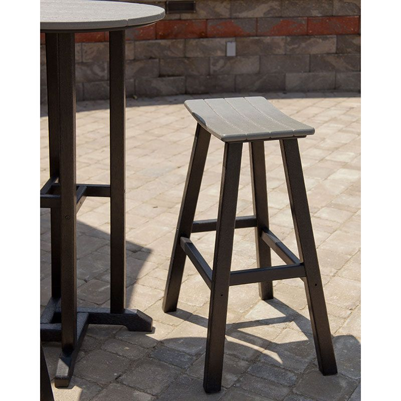 Contempo 30in Saddle Bar Stool Polywood Outdoor Furniture Bar