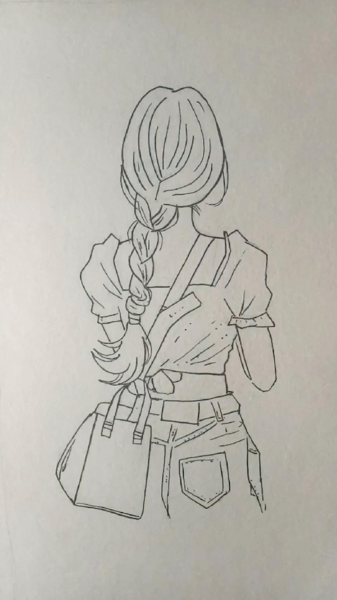Anleitung: Mädchen zeichnen und ausmalen