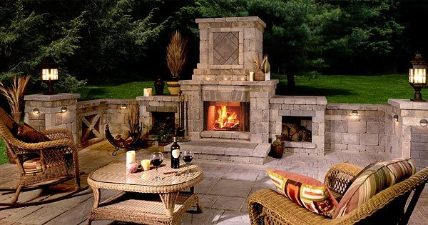 images about outdoor fireplaces on, Backyard Ideas