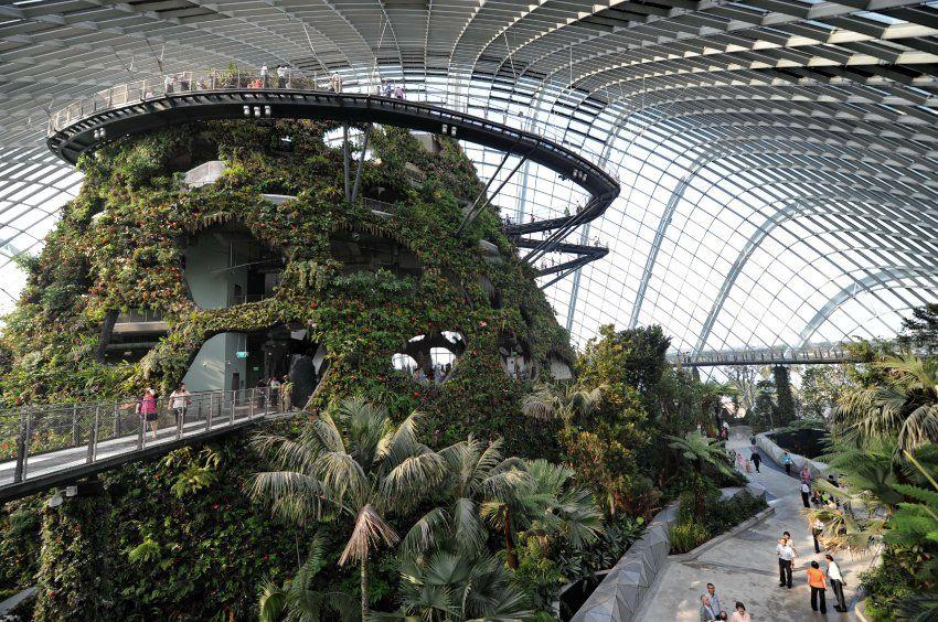 Bay South Park in Singapur - Cloud Forest: In dem Gewächshaus ...