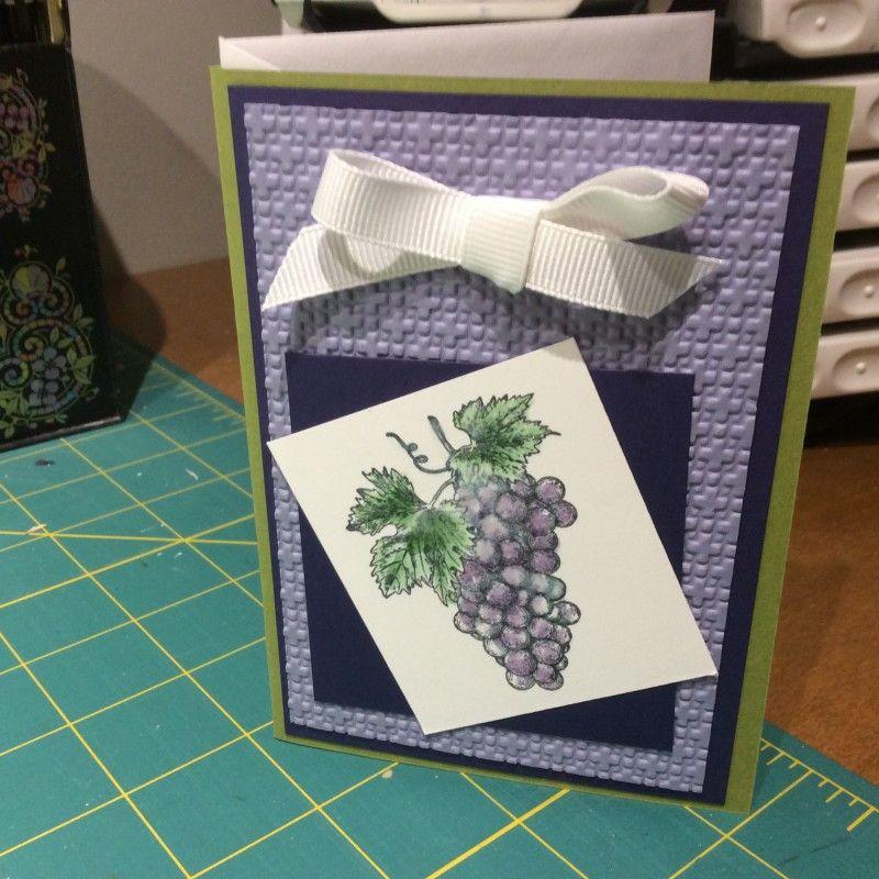 Grape note card