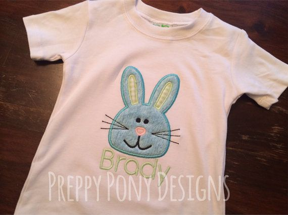 Easter Bunny Applique Shirt by preppyponydesigns on Etsy, $24.00