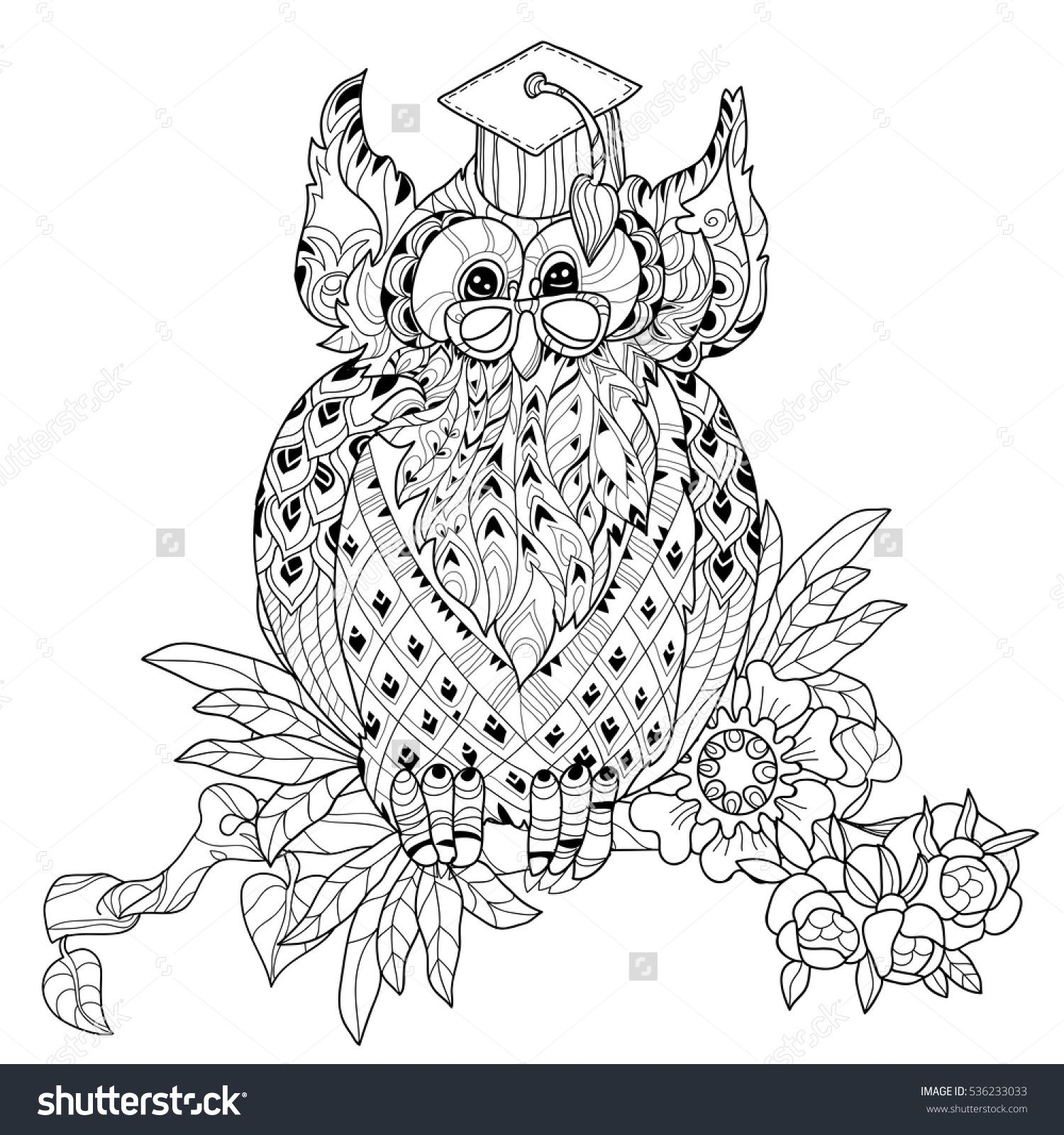stock-vector-old-owl-on-tree-branch-hand-drawn-doodle-vector-on-white-background-isolated-illustration-zen-art-536233033.jpg (1500×1600)