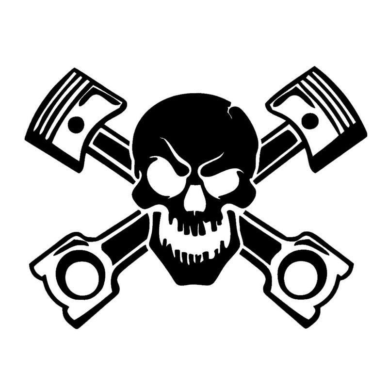 Vinyl Decal skull pirate sticker car window bumper