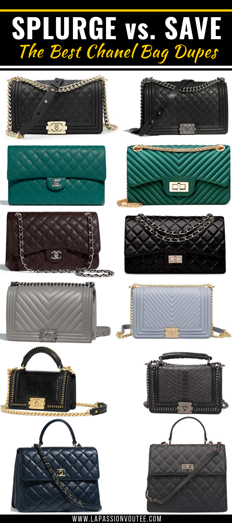 Shopping For Some Chanel Bag Dupes This Is Your Ultimate Guide To Shopping The Most Wanted Coco Chanel Purses On A Bu Chanel Bag Chanel Purse Coco Chanel Bags