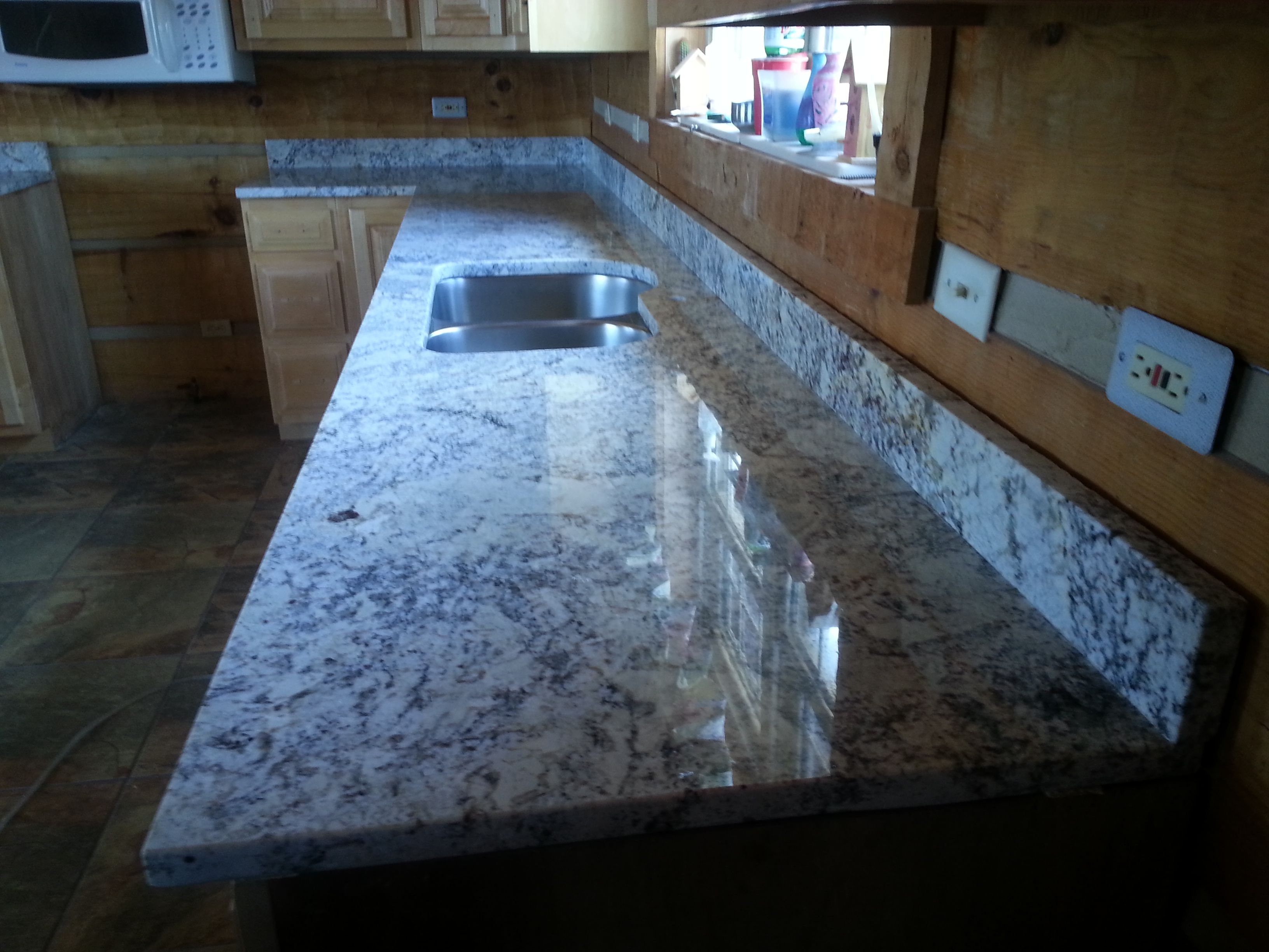 White Springs granite kitchen countertop install for the Montgomery ...