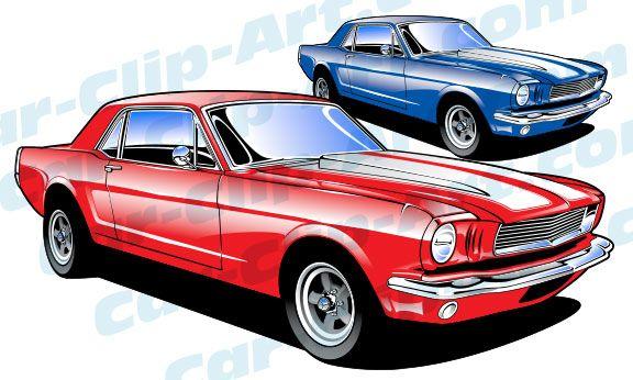 1965 Ford Mustang Vector Clip Art Eric s Pinterest