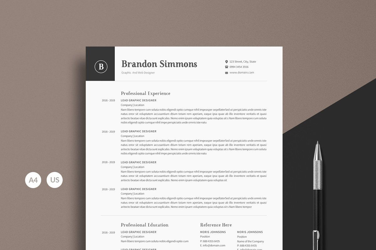 Word Resume Cover Letter For Resume Unique Resume Template Clean Resume Template
