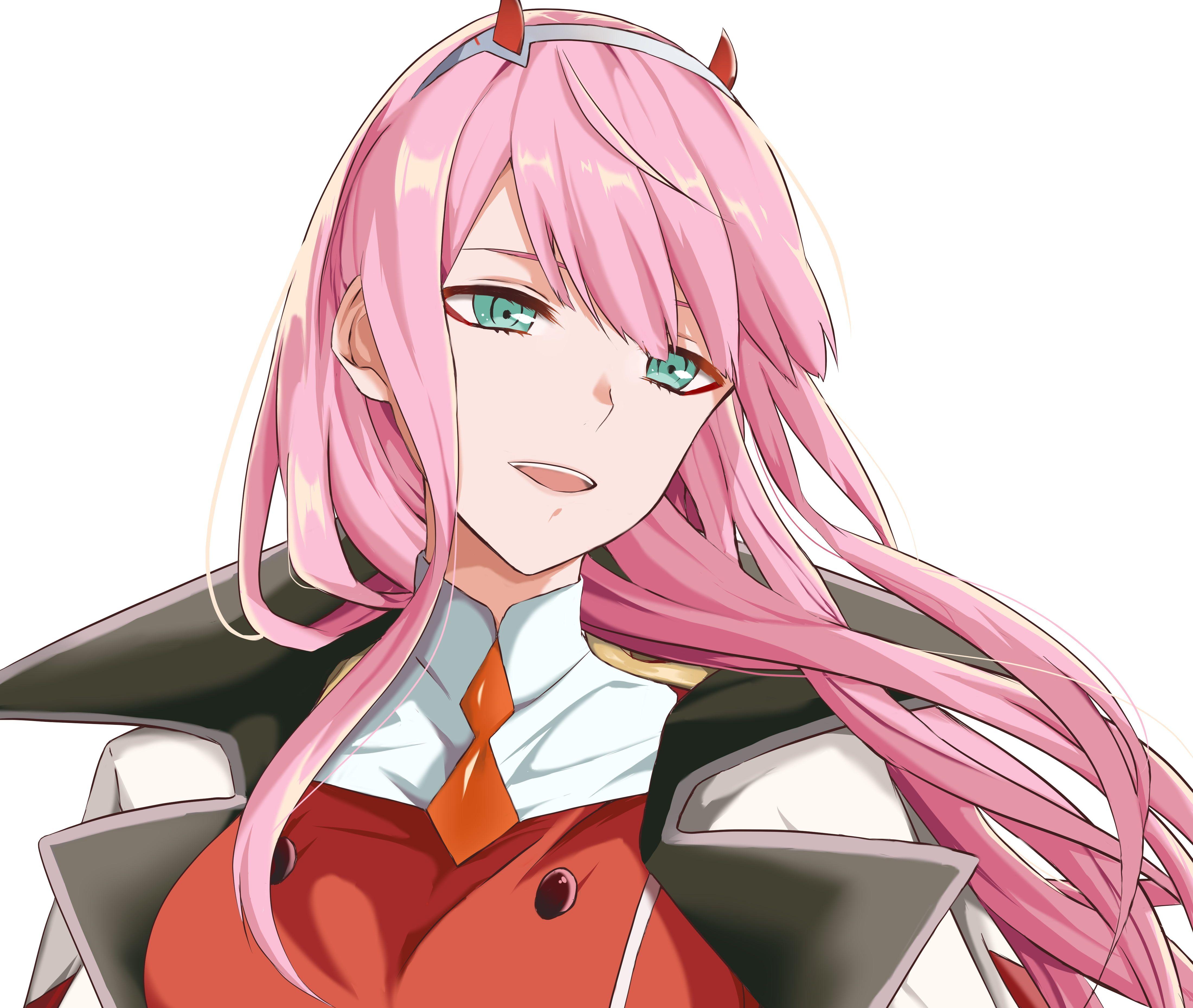 Zero Two Darling In The Franxx Anime 4k Wallpaper Hdwallpaper Desktop Anime Wallpaper Iphone Darling In The Franxx Anime