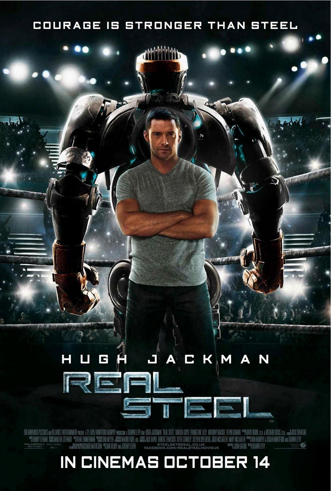 This Movie Has So Much Heart I Love It In 2021 Real Steel Full Movies Online Free Movie Posters