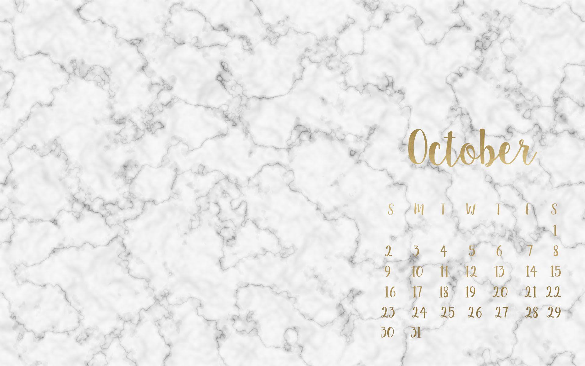Free October Desktop Wallpapers Desktop Wallpaper Fall Desktop Wallpaper Calendar Marble Desktop Wallpaper