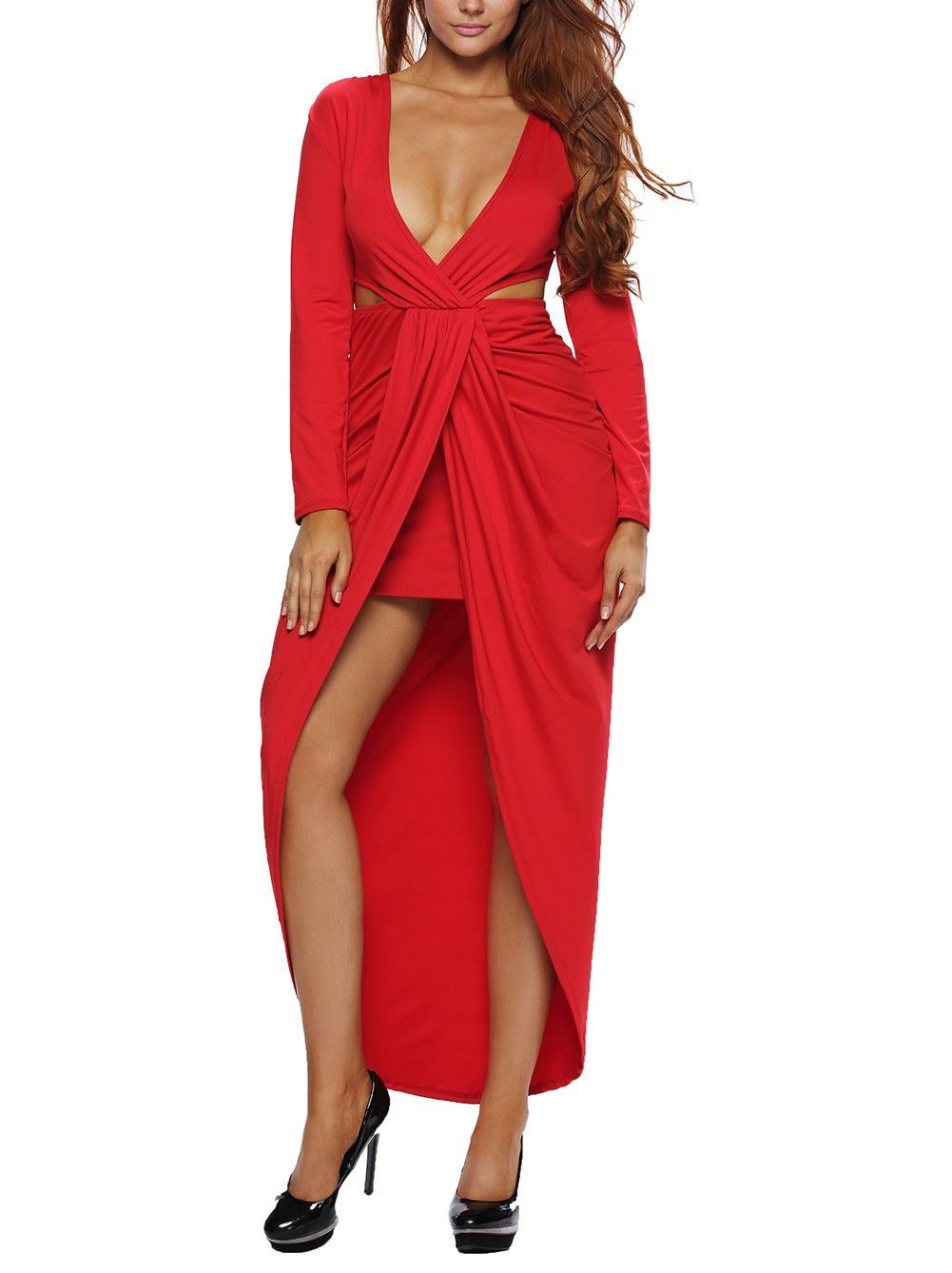 Red wrap around kenny dress fashion pinterest products