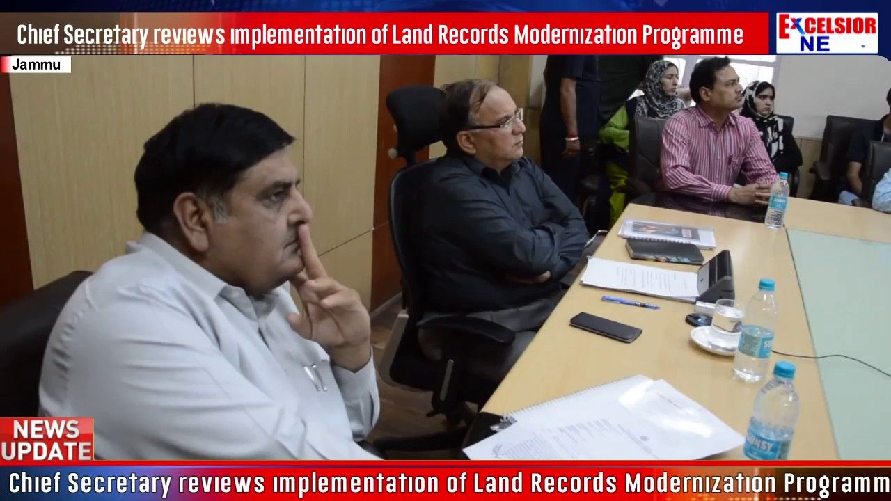 Chief Secretary reviews implementation of Land Records