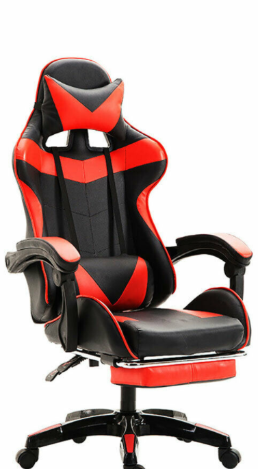 Office Racing Gaming Chair Computer Ergonomic Backrest Swivel Chair Footrest In 2020 Gaming Chair Chair Foot Rest