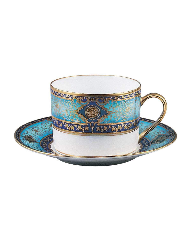 Bernardaud Grace Teacup Tea Cups Silver Tea Set Tea Cup Saucer