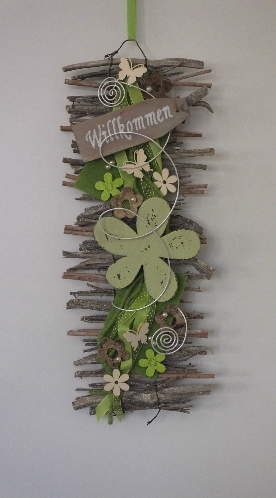Türkranz, Türschmuck, Willkommen, Wandbehang, Filz, Blume, Frühling In  Möbel U0026 Wohnen, Dekoration, Außen  U0026 Türdekoration | EBay!