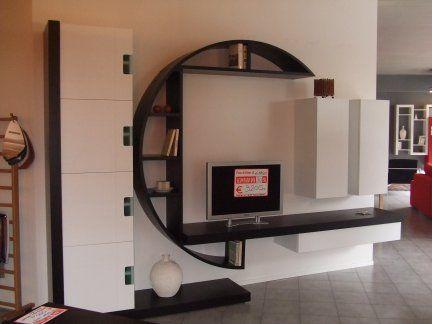 Mobili Rovere ~ Originale mobile soggiorno in legno rovere tinto wenghè e laccato