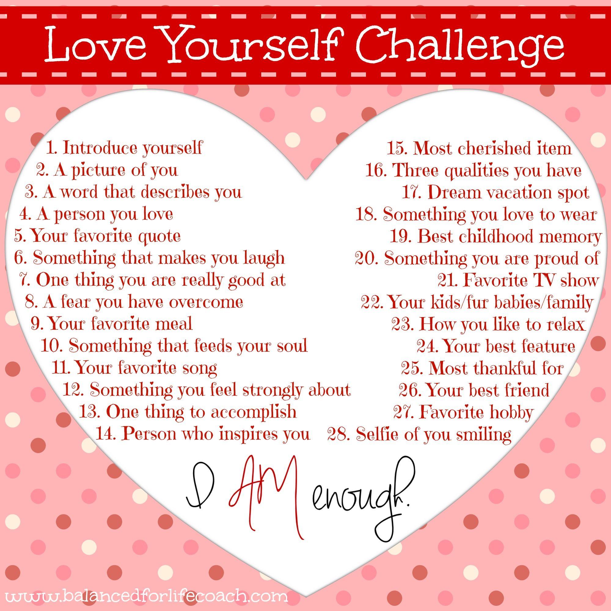 FREE Self Love Challenge **Click LINK Below To Join** #Love #SelfLove #SelfConfidence #FreeChallenge #MakeYourselfAPriority
