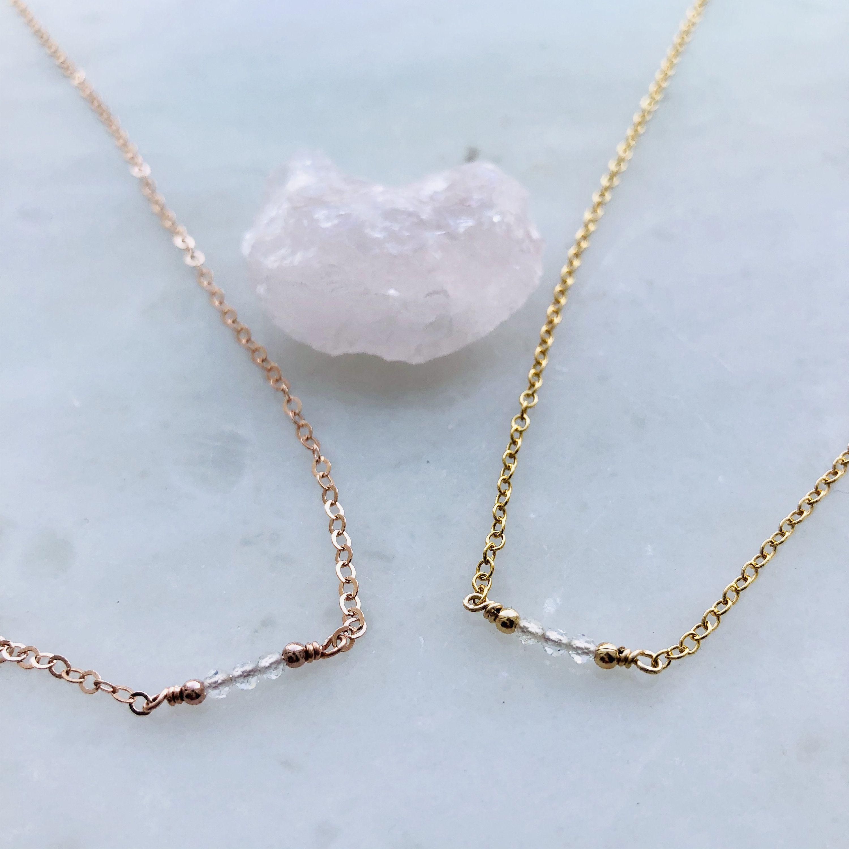 Photo of Dainty Moonstone Necklace Gemstone Necklace Gold Filled Jewelry Dainty Jewelry Moonstone Jewelry June Birthstone Necklace Birthstone Jewelry