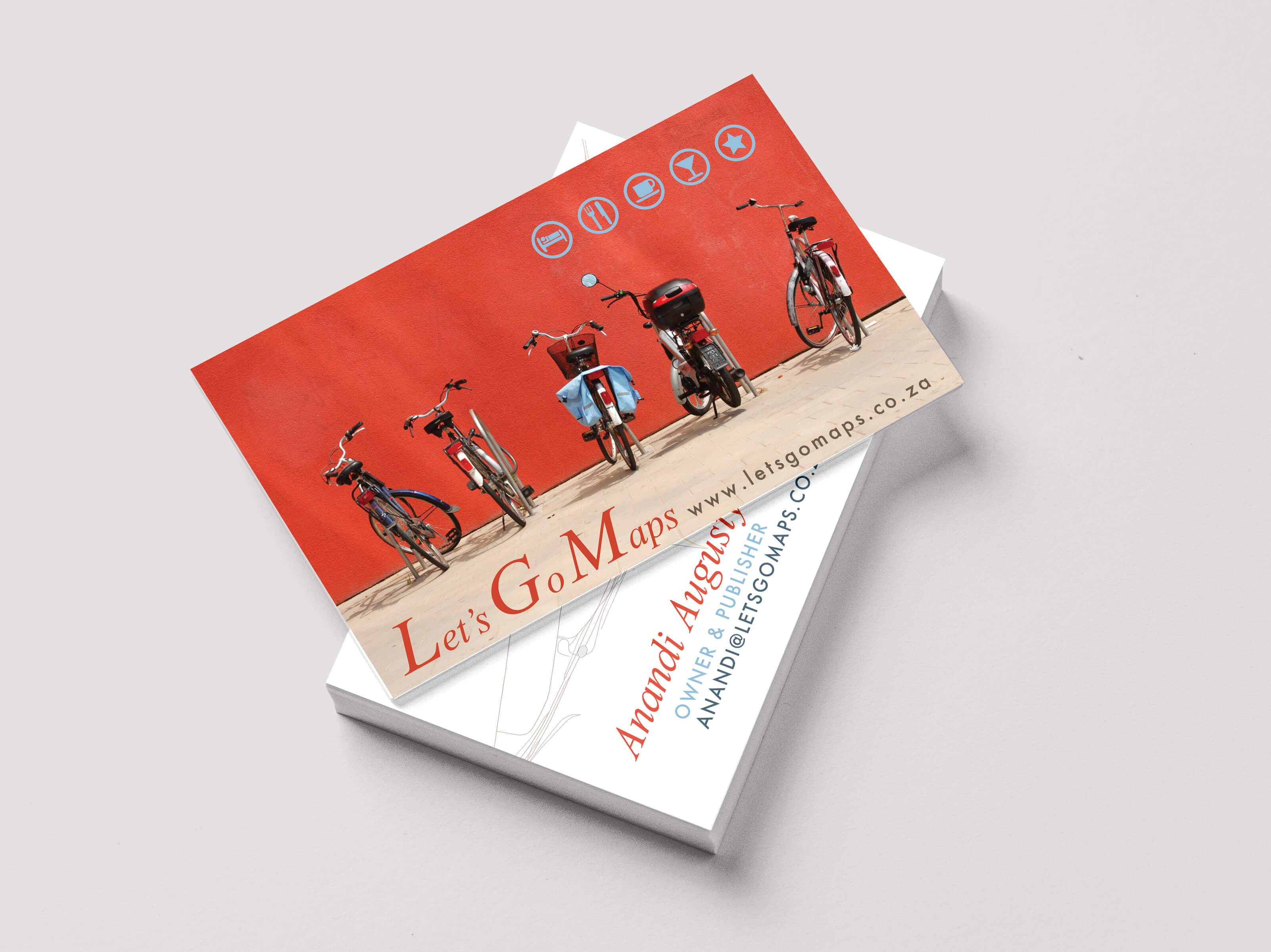 Business Cards for Lets Go Maps by Pink Pigeon Graphic Design ...