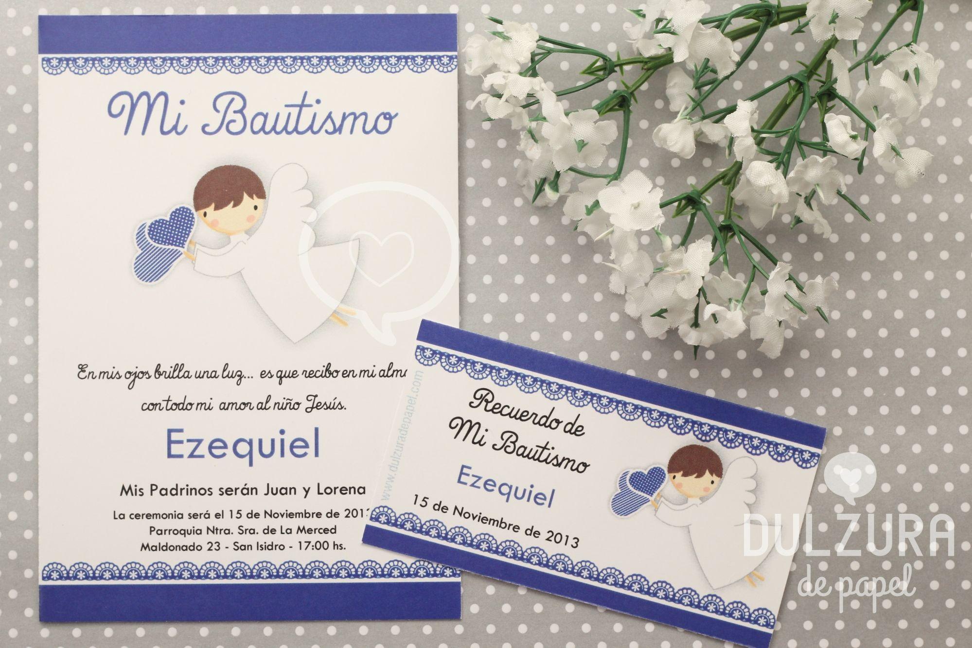 Invitacion Bautismo Nene Bautismo Angelito Bautizo