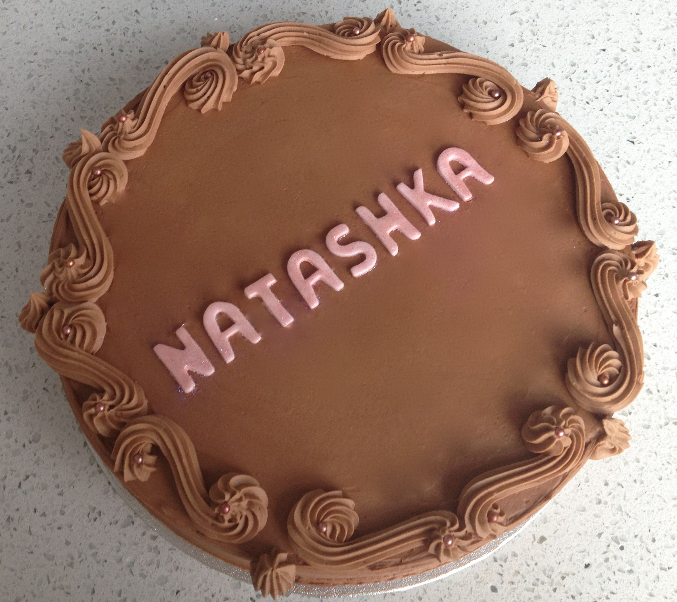 Happy Birthday Natashka Chocolate Truffle Cake Cake me Baby