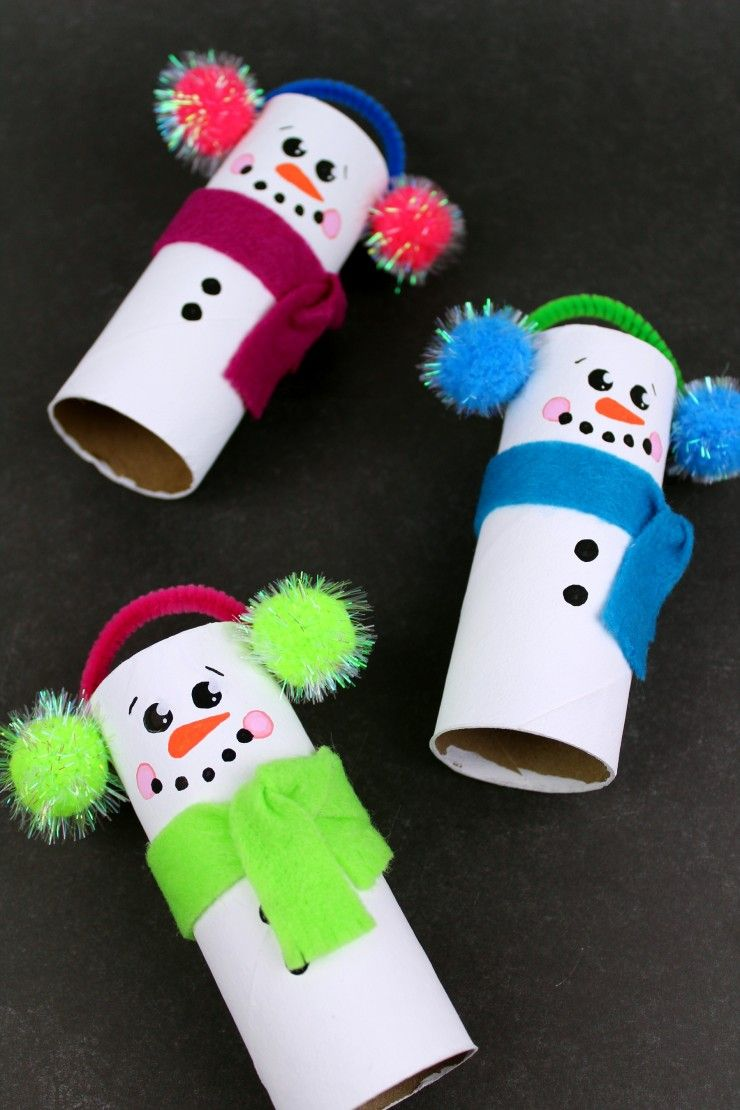 Recycled Toilet Paper Tube Snowmen These Recycled