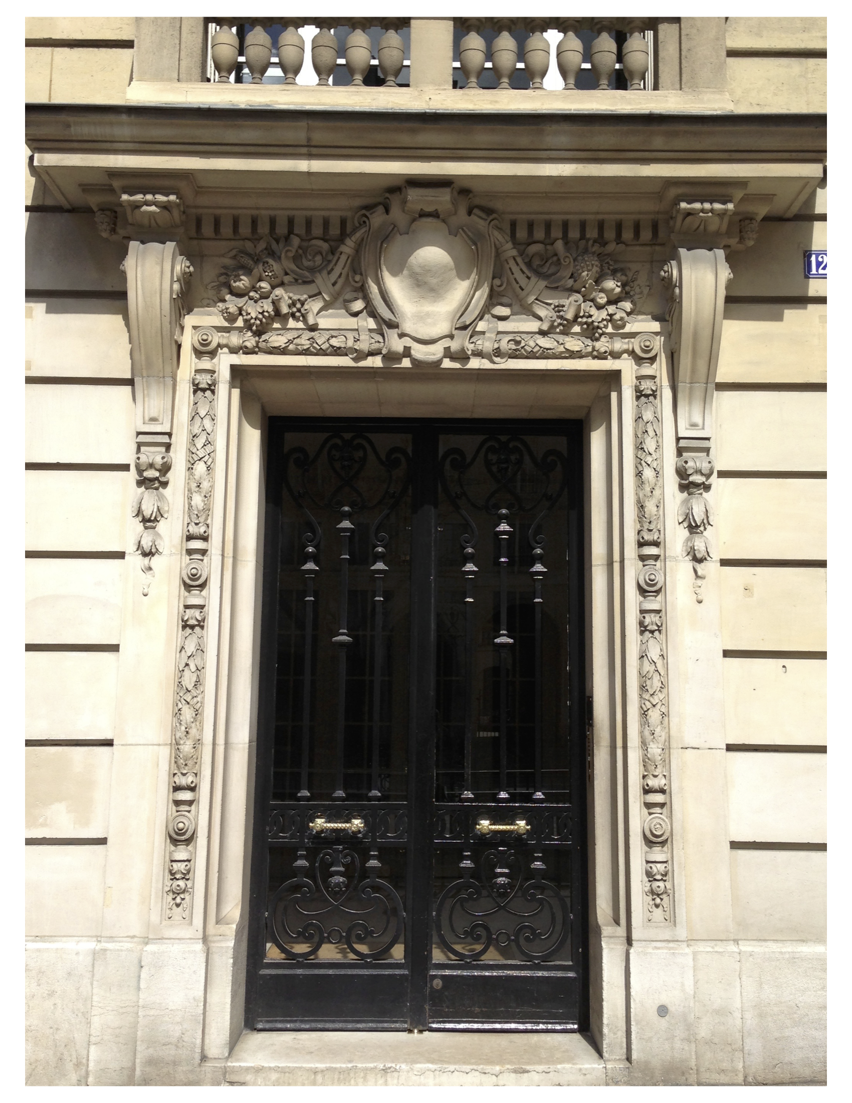 Delightful Sumptuous Foliate Garlands Embrace This Superb Parisian Stone Door  Surround, Punctuated By A Bold Cartouche