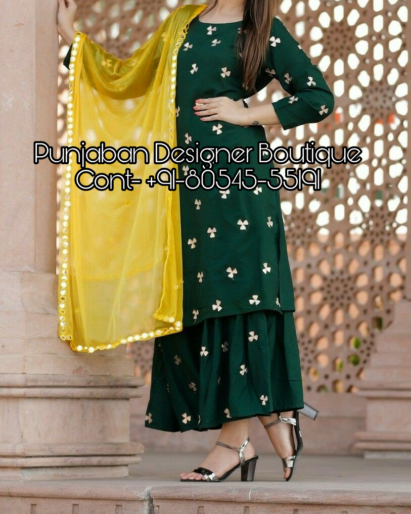 Call Us 91 80545 55191 Or Whatsapp Designer Plazo Suit Colours Available In All Colours Trendy Dress Outfits Neck Designs For Suits Latest Suit Design