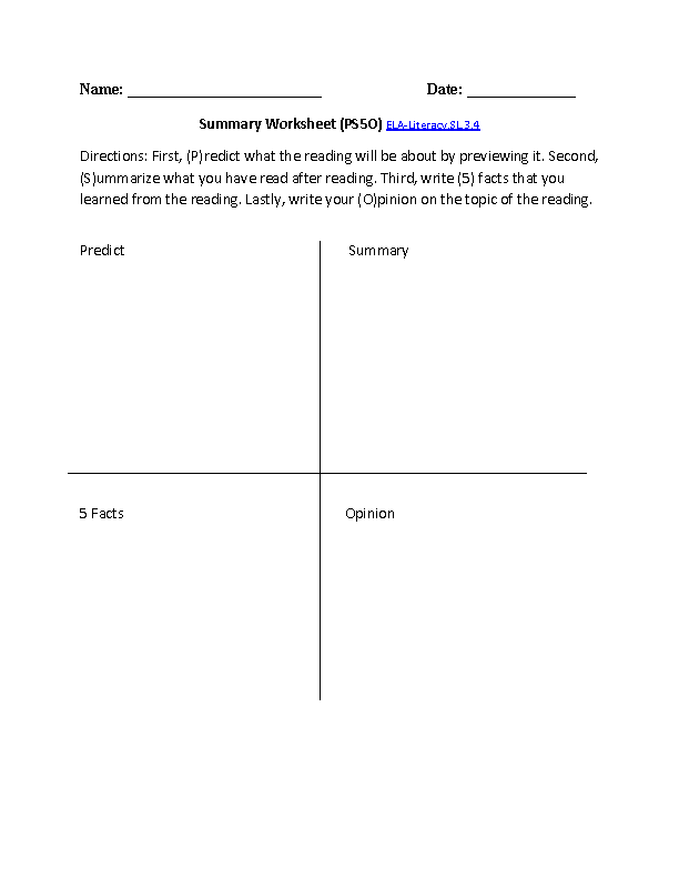 English Worksheets 3rd Grade Common Core Aligned