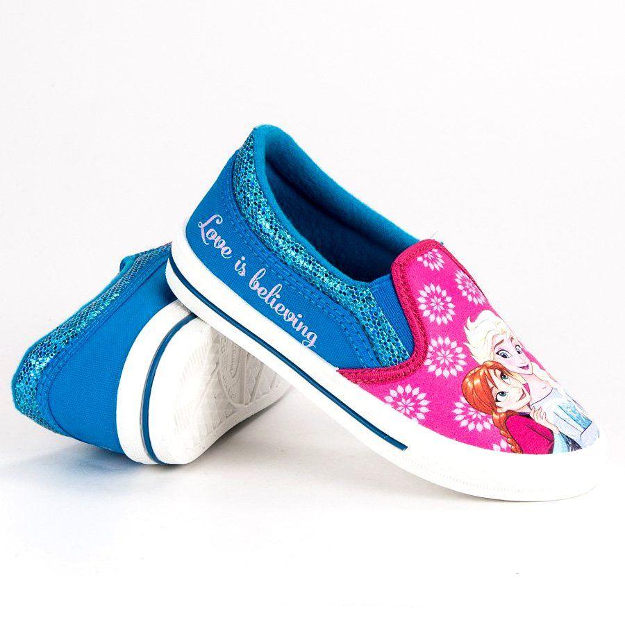 Buty Sportowe Dzieciece Dla Dzieci Butymodne Wsuwane Trampki Kraina Lodu