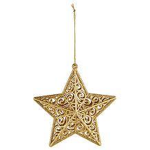Heritage 3D Glitter Star Ornament - Gold