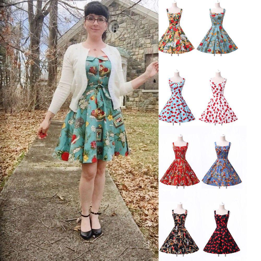 Swing Dance 50's Retro Dresses Pin Up Vintage Evening PLUS