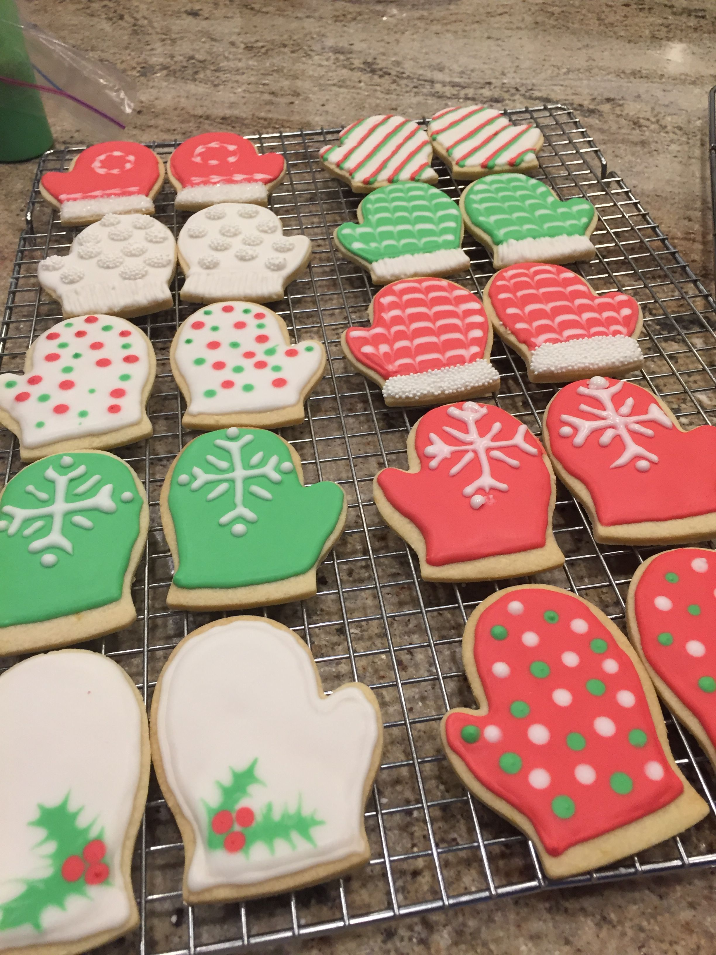 Christmas Cookies Mittens Get Creative Baking Project