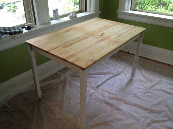 Finishing Ingo Table From Ikea Decor Projects