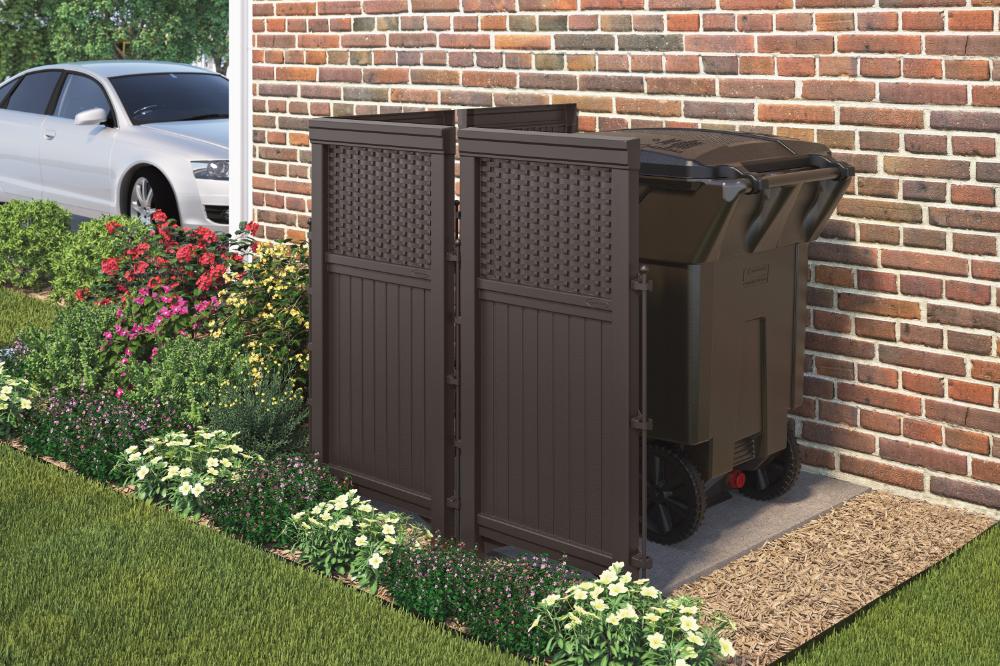 Suncast Resin Wicker Outdoor Screen Enclosure Fsw4423 Walmart Com In 2020 Privacy Screen Outdoor Outdoor Privacy Backyard