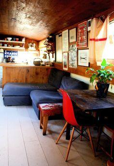 narrowboat kitchen handpainted - Google Search