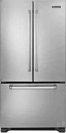 Captivating KitchenAid KFCP22EXMP 21.8 Cu. Ft. Counter Depth French Door Refrigerator  With SpillClean Glass