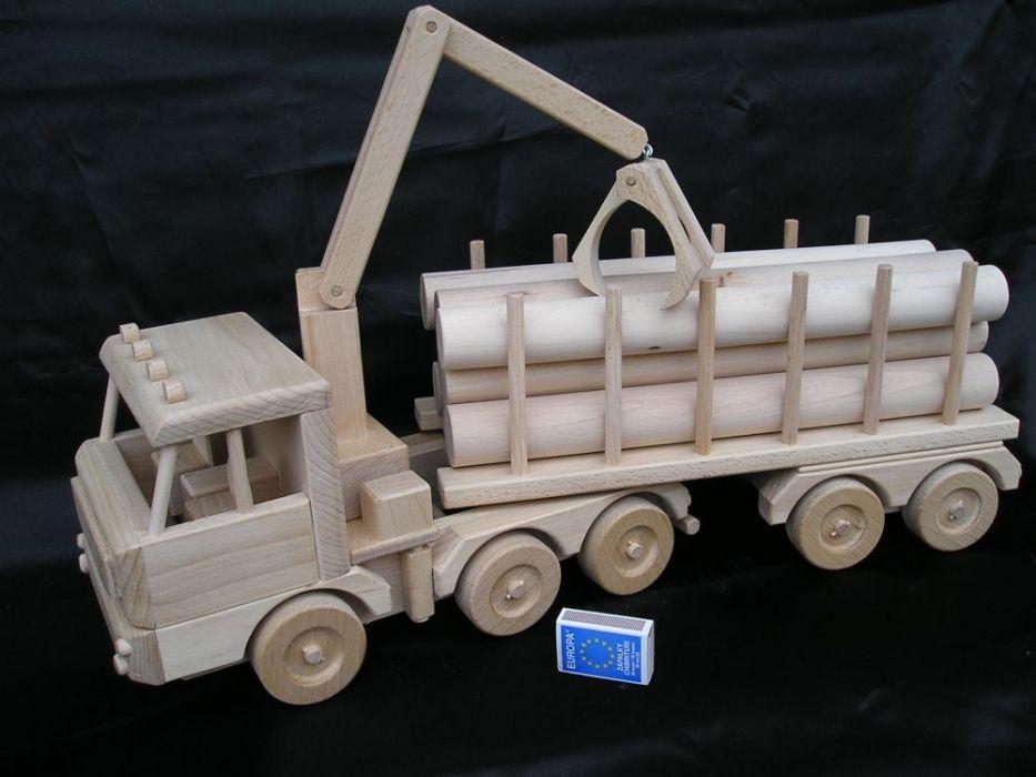 holz transporter lkw 60 cm special holzspielzeug. Black Bedroom Furniture Sets. Home Design Ideas