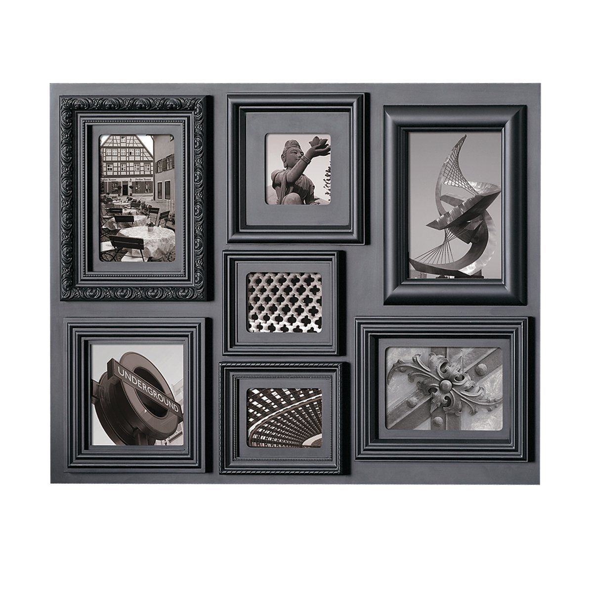 Kiera Grace Fuse Collage Picture Frame, 18 by 24- Inch, 7 Opening ...