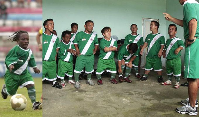 Grown men midget soccer