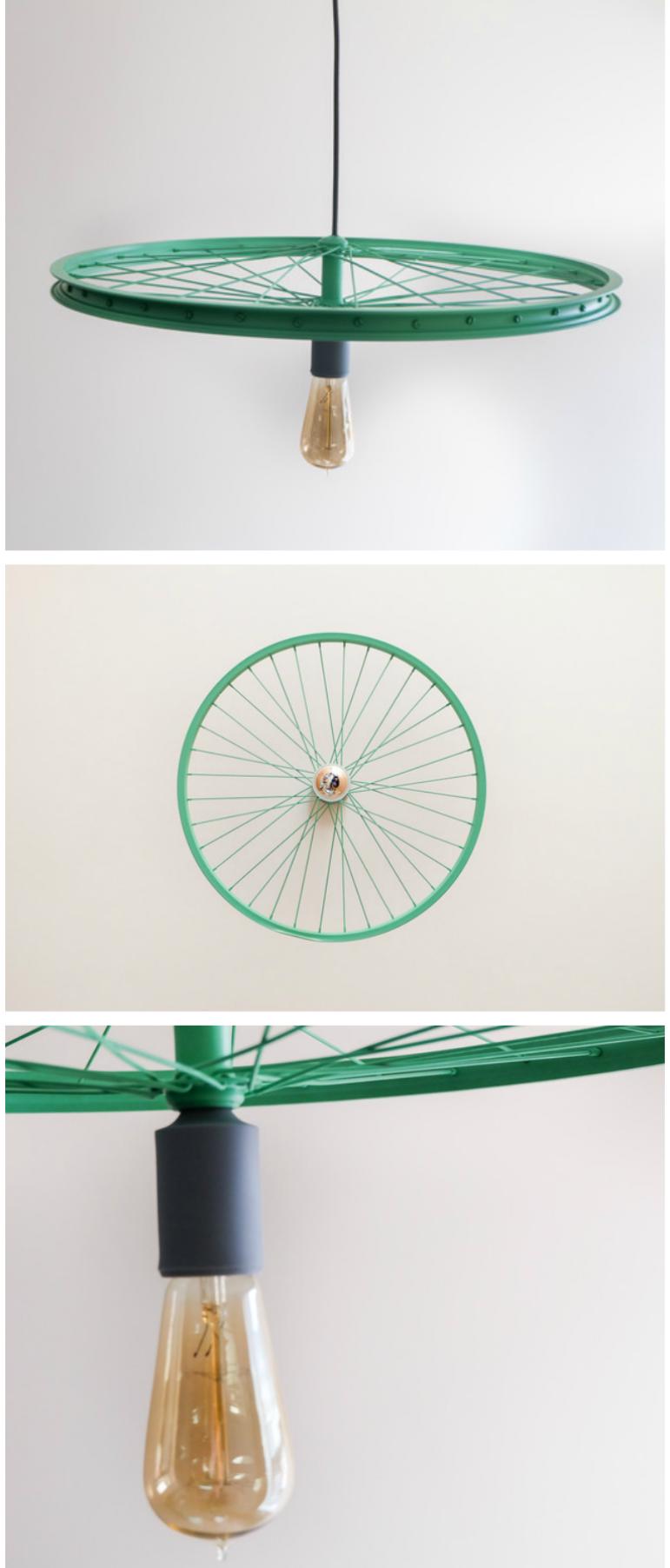 Hangelampe Aus Einem Fahrradreifen Upcycling Wohndeko Lampe